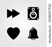 buttons icons set. vector... | Shutterstock .eps vector #1038357526