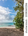 """Small photo of The beach """"Fond Larion"""" at Saint-Luce, Martinique, 27th of February 2018"""
