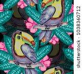 elegant seamless pattern with... | Shutterstock .eps vector #1038360712