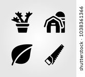garden icons set. vector... | Shutterstock .eps vector #1038361366