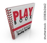 playbook tactics methods for... | Shutterstock . vector #1038362662