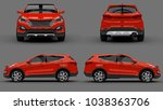 set compact city crossover red... | Shutterstock . vector #1038363706