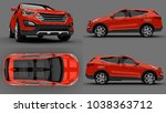 set compact city crossover red... | Shutterstock . vector #1038363712