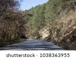 highway in the mountains ... | Shutterstock . vector #1038363955