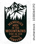 memories made in the mountains... | Shutterstock .eps vector #1038364192