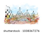 borobudur or barabudur is a 9th ...   Shutterstock .eps vector #1038367276