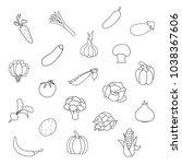 vector set of fresh organic... | Shutterstock .eps vector #1038367606