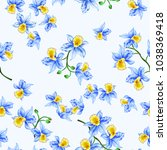 seamless pattern with bright... | Shutterstock .eps vector #1038369418