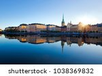 stockholm city early morning | Shutterstock . vector #1038369832