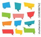 set of paper banners.vector... | Shutterstock .eps vector #1038388762