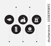 set of 5 industrial icons set.... | Shutterstock .eps vector #1038390892