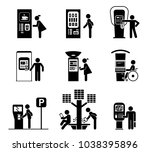 set of various self   service... | Shutterstock .eps vector #1038395896