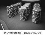 casino   poker chips colorful... | Shutterstock . vector #1038396706