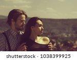 romantic relationship  man or... | Shutterstock . vector #1038399925