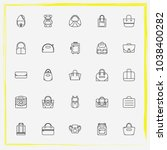 bags line icon set women bag ... | Shutterstock .eps vector #1038400282