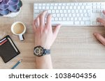 work in office usually day | Shutterstock . vector #1038404356