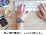 work in office usually day | Shutterstock . vector #1038404362