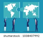 business people cooperation... | Shutterstock .eps vector #1038407992