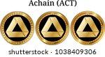 set of physical golden coin...   Shutterstock .eps vector #1038409306