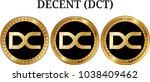 set of physical golden coin... | Shutterstock .eps vector #1038409462