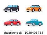 four cars set | Shutterstock .eps vector #1038409765