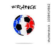 abstract soccer ball painted in ... | Shutterstock .eps vector #1038414862