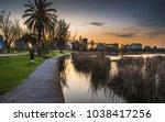 early morning sunrise albert... | Shutterstock . vector #1038417256
