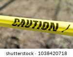 caution tape outdoors signaling ...   Shutterstock . vector #1038420718