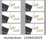 gift cards in the style of... | Shutterstock .eps vector #1038423025