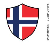 flag of norway. norway rugby... | Shutterstock .eps vector #1038429496