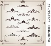 set of vintage frame with...   Shutterstock .eps vector #1038437482