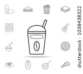 take away coffee cup line icon. ... | Shutterstock .eps vector #1038438322