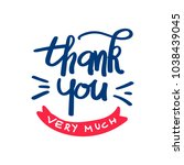 thank you very much isolated in ... | Shutterstock .eps vector #1038439045