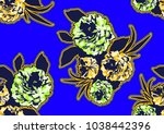 textile fashion african print...   Shutterstock .eps vector #1038442396