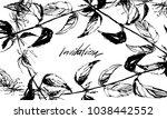 nifty gentle hand drawn... | Shutterstock .eps vector #1038442552