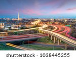 washington  d.c. city skyline... | Shutterstock . vector #1038445255