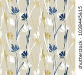 vector seamless pattern with... | Shutterstock .eps vector #1038445615