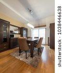 dining room interior | Shutterstock . vector #1038446638