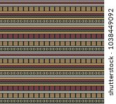seamless vector decorative... | Shutterstock .eps vector #1038449092