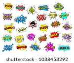 collection of explosion... | Shutterstock . vector #1038453292