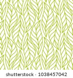 vector leaf seamless pattern.... | Shutterstock .eps vector #1038457042