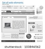 web design frame vector for... | Shutterstock .eps vector #103846562