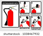 extinguisher  info  sticker | Shutterstock .eps vector #1038467932