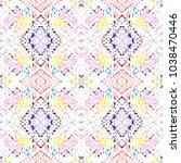 tribal seamless pattern. hand... | Shutterstock . vector #1038470446