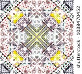 tribal seamless pattern. hand... | Shutterstock . vector #1038470452