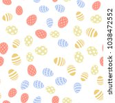 seamless pattern with eggs.... | Shutterstock .eps vector #1038472552