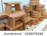 seat for onsen is made from... | Shutterstock . vector #1038478186