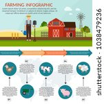 big set infographics vector... | Shutterstock .eps vector #1038479236