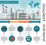 vector oil rig industry of... | Shutterstock .eps vector #1038479242
