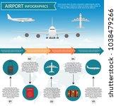 airport passenger terminal and... | Shutterstock .eps vector #1038479266